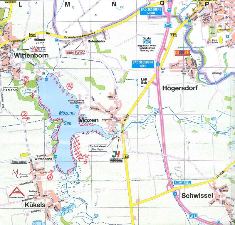 Zugaenge Moezener See